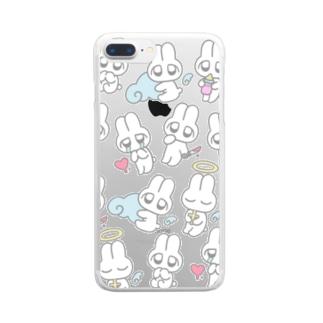 めんへらうさちゃん Clear smartphone cases