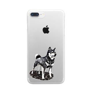 凛と (背景なし) Clear smartphone cases