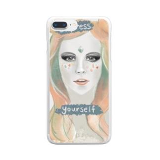 女神ちゃん Clear smartphone cases