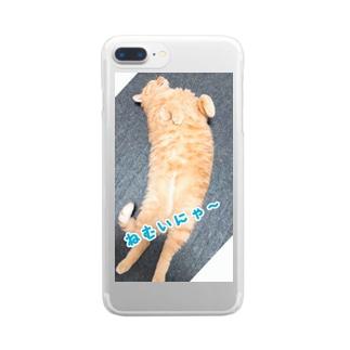ちゃとららぶシリーズ Clear smartphone cases