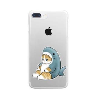 サメにゃん Clear smartphone cases