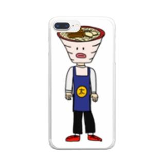 沖縄そば太郎グッズ Clear smartphone cases