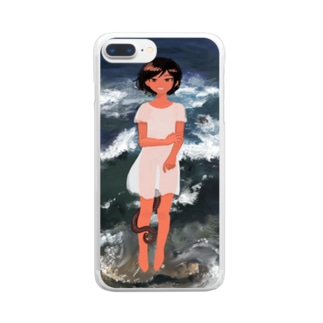 波の子 Clear smartphone cases