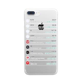 米株しか勝たん Clear smartphone cases