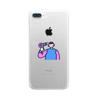 脳みそほぐし Clear smartphone cases