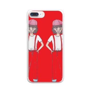 双子姉妹 Clear smartphone cases
