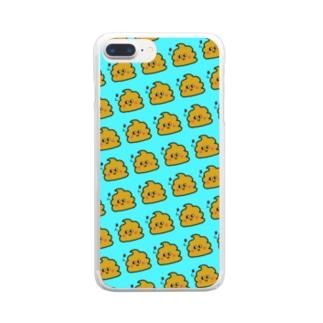 うんちゃんスマケー シンプル Clear smartphone cases