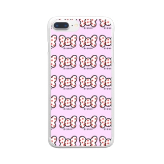 ribbon スマケー シンプルピンク Clear smartphone cases