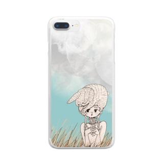 寒い朝 Clear smartphone cases