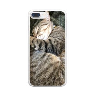 キジトラ ハルさん Clear smartphone cases