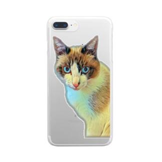 にゃじろう(警備員) Clear Smartphone Case