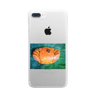 momo_emiのカニ Clear Smartphone Case
