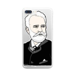 チャイコフスキー先生 Clear smartphone cases