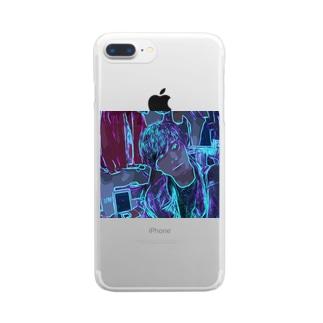 HenDrixxx StoReのネオン Clear Smartphone Case