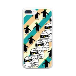 ミイラペンギンiPhoneケース Clear smartphone cases
