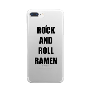 ROCK AND ROLL RAMEN Clear smartphone cases