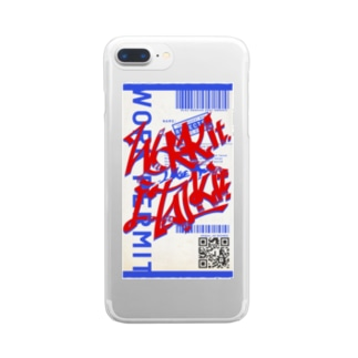 Work it like a I talk it あか Clear smartphone cases