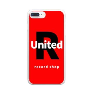 ユナイテッドレコード Clear smartphone cases