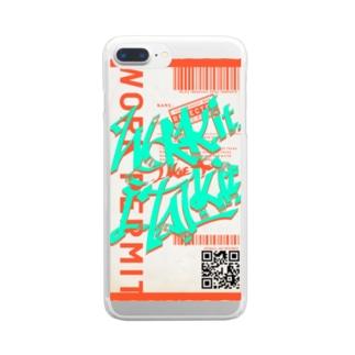 Work it like a I talk itのおれんじ Clear smartphone cases