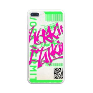 JoiのWork it like a I talk itのぴんく Clear smartphone cases