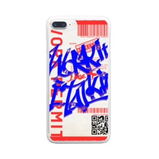 Work it like a I talk itのあおとあか Clear smartphone cases