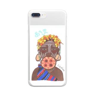 ムルシ族 Clear smartphone cases