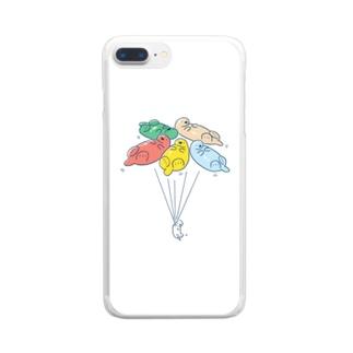 ラッッッコ「バルーン」 Clear smartphone cases