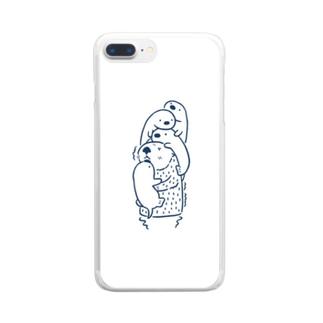 ラッッッコ「遊んで」 Clear smartphone cases