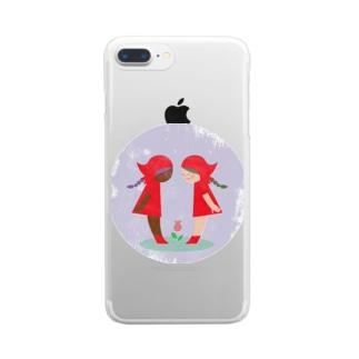 赤い頭巾 Clear smartphone cases