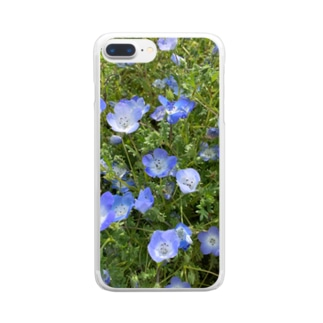 Blue✕Green Clear smartphone cases