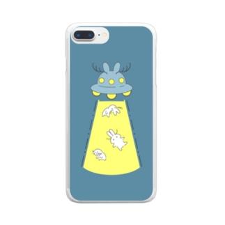 豊作(背景ありVer.) Clear smartphone cases