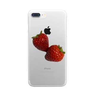 Strawberry Kiss Clear smartphone cases