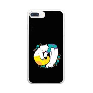 クマとクマはのんびり Clear smartphone cases