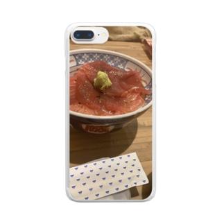 いくら丼 Clear smartphone cases