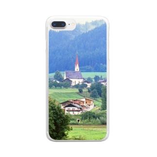 ドイツ:山岳地方の風景写真 Germany: view of a mountain village Clear smartphone cases