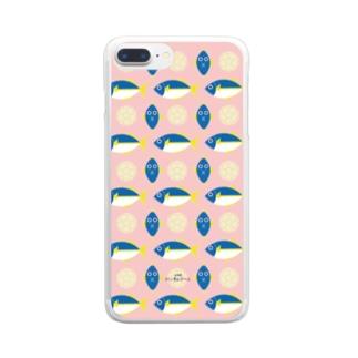 ハンぎょボール(魚群) Clear smartphone cases