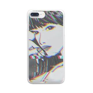 テックモノクローム Clear smartphone cases
