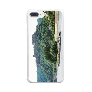 ドイツ:ラインフェルス城とライン川 Germany: Burg Rheinfels & river-tanker / Rhein Clear smartphone cases