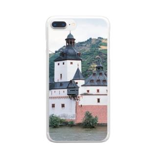 ドイツ:プファルツ城 Germany: Pfalzgrafenstein am Rhein Clear smartphone cases