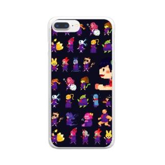 四ツ谷坂四十八ドット絵 Clear smartphone cases