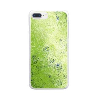 リトルグリーンメン Clear smartphone cases
