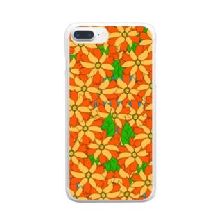 riekim オレンジ Clear smartphone cases