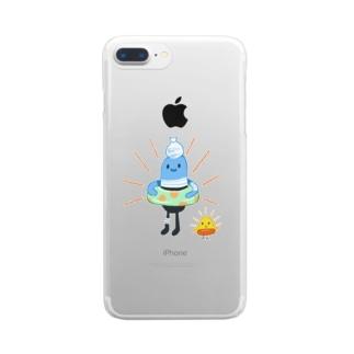 薬くん、泳ぐぞ! Clear smartphone cases