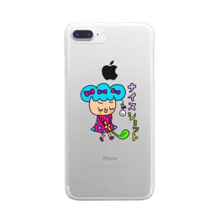 ナイスショット Clear smartphone cases