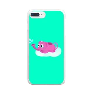ぞうさんじょうろ Clear smartphone cases