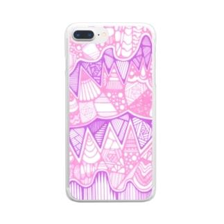 パステルなやつ Clear smartphone cases