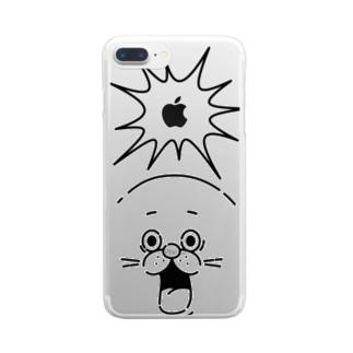 ハッとするアザラシ Clear smartphone cases