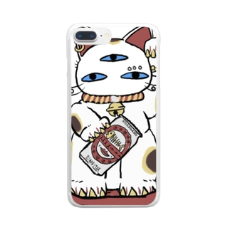 幸福招来3eyes 招きキャット Clear smartphone cases