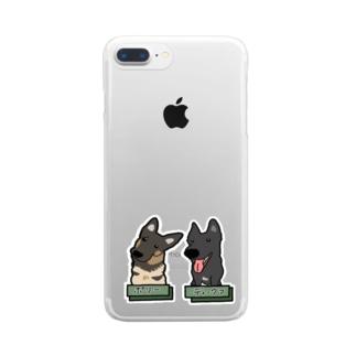 うちの子1番☆〜ポリーちゃん&ディーヴァちゃん〜 Clear smartphone cases