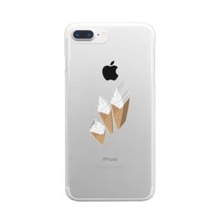 輪切りソフトクリーム Clear smartphone cases